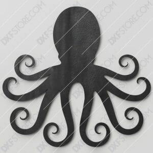 Octopus Free DXF File Plasma and Laser Cut DXF File for CNC