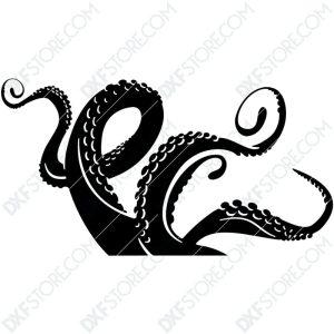 Octopus Legs Plasma Art Plasma and Laser Cut DXF File for CNC