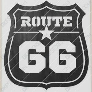 Route 66 Sign Plasma and Laser Cut for CNC Laser and Plasma Cutter