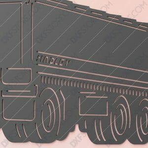 Scania R620 Truck With Personalized Wording Custom Order Cut-Ready Plasma Cut DXF File Download for CNC
