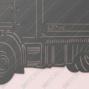 Scania R620 Truck With Personalized Wording Custom Order DXF File Downloadable Ready to Cut