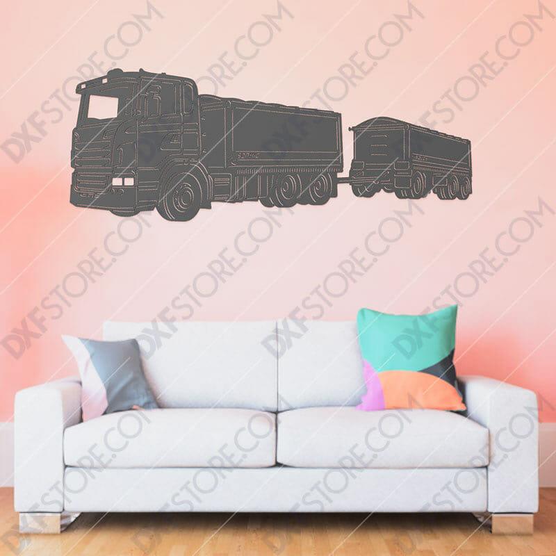Scania R620 Truck With Personalized Wording Custom Order Plasma Art for CNC Plasma Cut Cut-Ready DXF File