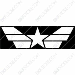 Star and Stripes Free DXF File CNC Cut-Ready DXF File