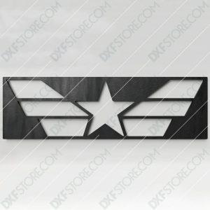 Star and Stripes Free DXF File CNC Plasma Cut CNC File