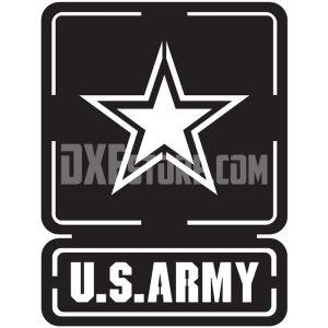 U.S.military logo DXF file