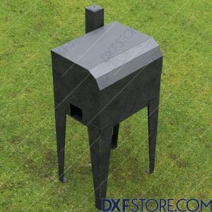 Wood Pellet Grill And Smoker DXF Files For Plasma Downloadable For Sale